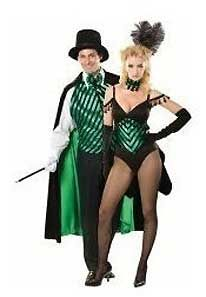 Magician And His Blonde Assistant Stock Photo