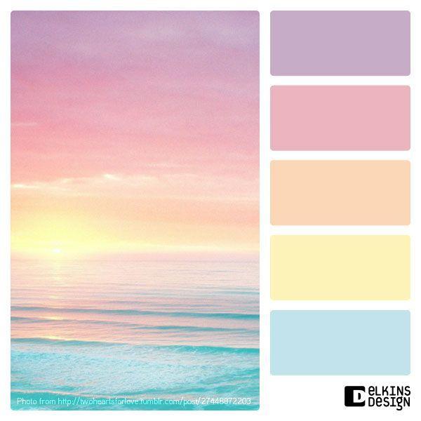 Paleta en tonos pastel.