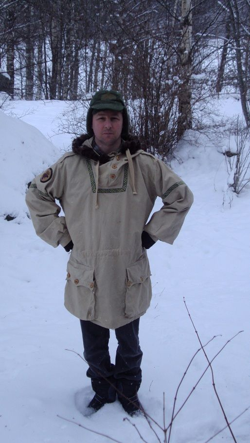 Making a Swedish snowsmock my own. Brilliant snowsmock/ wool coat upcycle :)