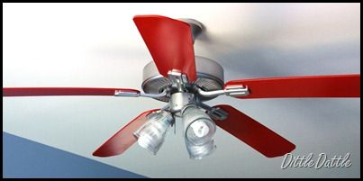 ceiling fan remodel--I'm totally doing this!!