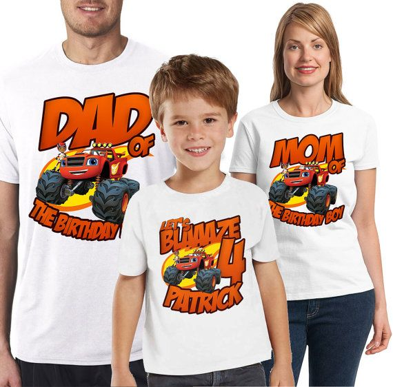 Custom Blaze and The Monster Machines Birthday by DatShirts