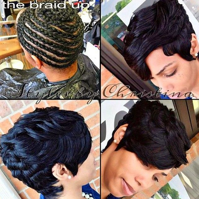 81 best 27 piece hairstyles images on pinterest short hairstyle transformation tuesday love this pixiecut sew instyled by detroitstylist short weave hairstylesshort pmusecretfo Image collections