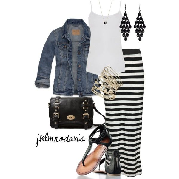 Maxi Skirt Outfit - Polyvore