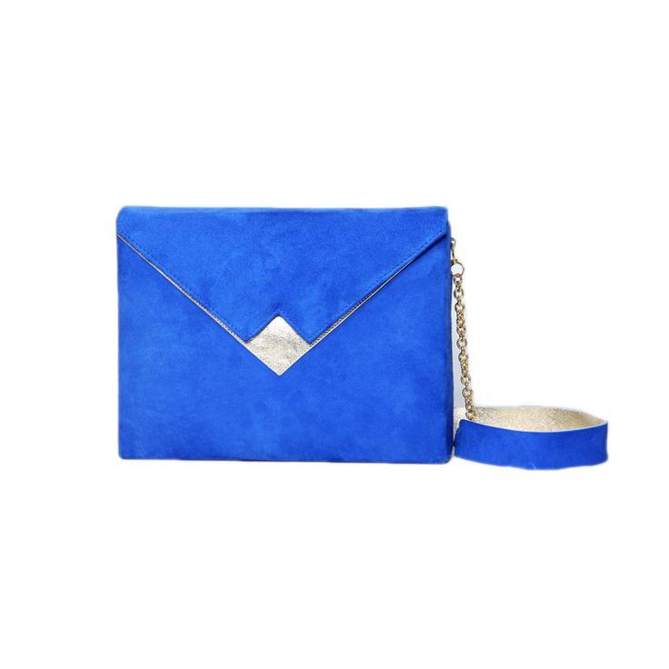 Am liking this Box Clutch - Colbalt Blue