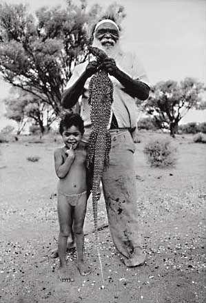 Goanna ~ Australian Reptiles, Aboriginal Photography Australia ~ Aliastair McNaughton