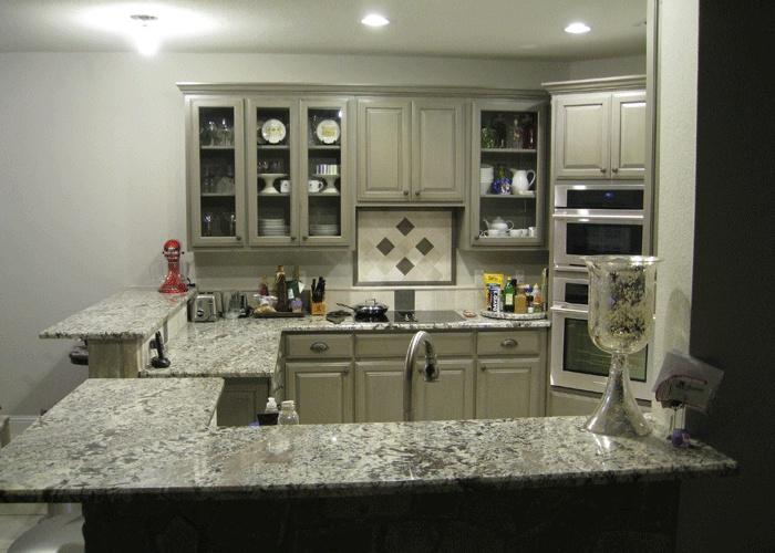 Azul aran granite countertop | kitchen ideas | Pinterest