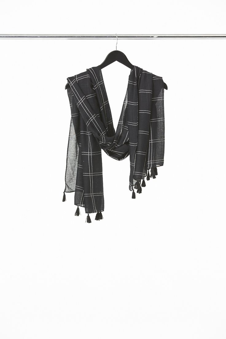 Stitched Check Scarf