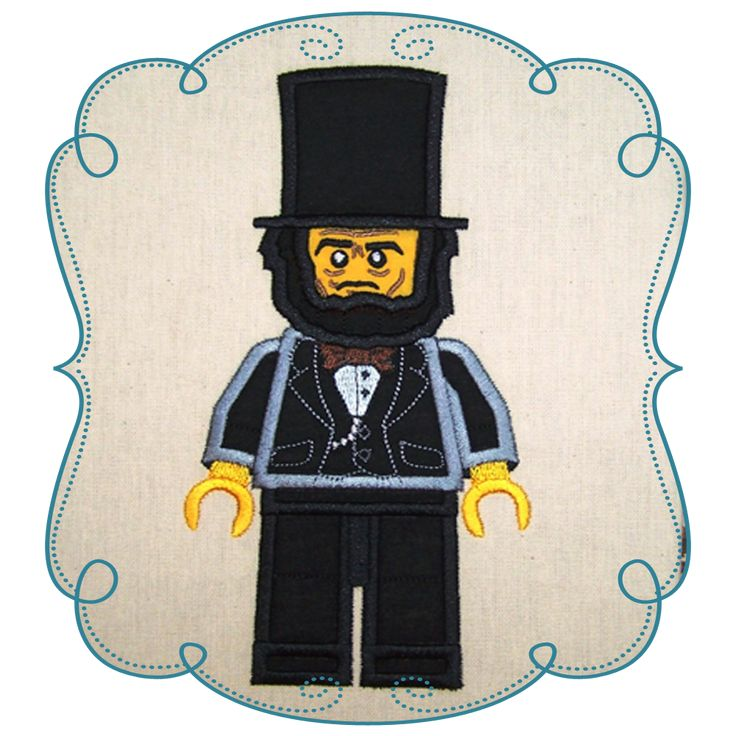 Lego president Lincoln Applique