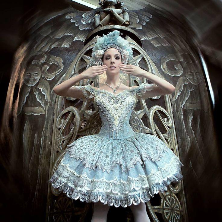 Leanne Stojmenov in Coppélia. Design Kristian Fredrikson. The Australian Ballet. Photography Justin Smith.