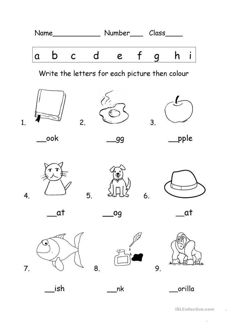 Phonics Worksheet English Esl Worksheets Kindergarten Phonics Worksheets Phonics Worksheets Phonics Kindergarten Kindergarten esl phonics activities