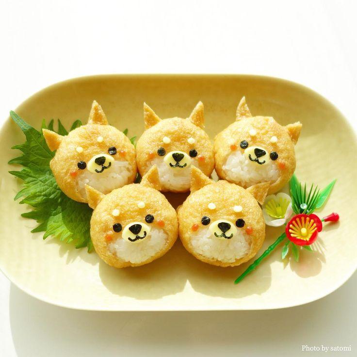 Doggie Inari rice balls by satomi (@satomi_0819)
