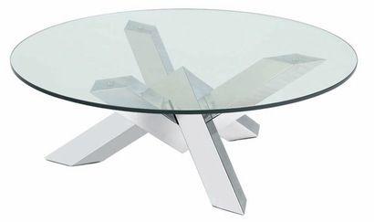 Nuevo Costa Glass Coffee Table in Clear