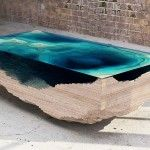 Layered Glass Table Concept Creates a Cross-Section of the Ocean