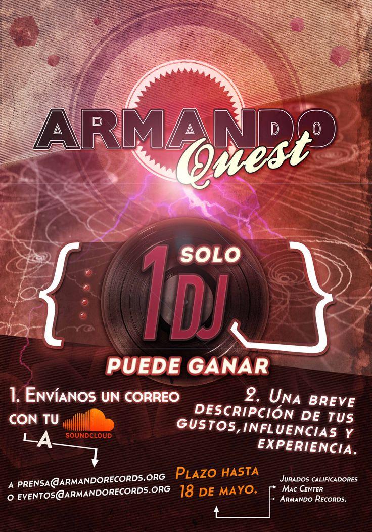 PROPUESTA Armando Quest / Armando Records  #armandorecords #dj #posterdesign #diseñografico
