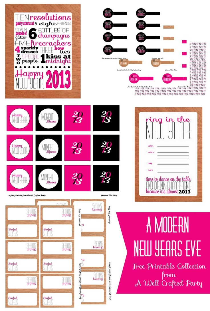 115 best NYE & The New Year images on Pinterest | New years eve, Nye ...
