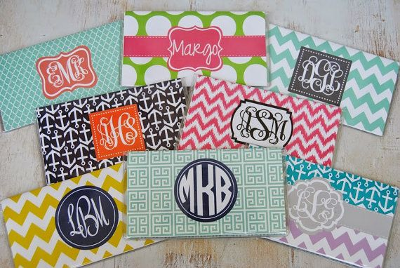 Personalized Checkbook Cover Monogrammed by PinkandLimeDesigns, $10.50