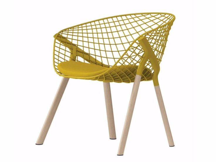 Steel and wood easy chair KOBI LOUNGE WOOD - 046 by Alias design Patrick Norguet
