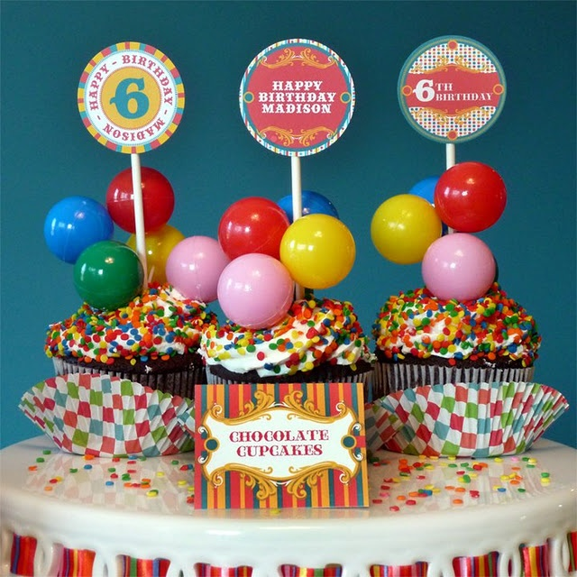 Carnival party food circus carnival party ideas pinterest cupcake toppers carnival party - Carnival party menu ...