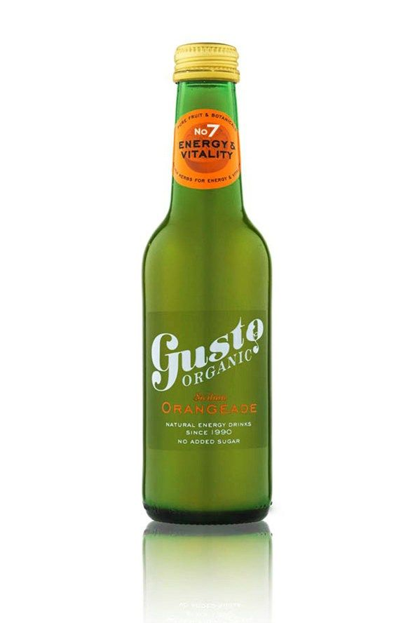Gusto Organic's Orangeade  But they might thank you more if you serve up this botanical organic fruit drink which promises energy and vitality into the bargain.   Calories: Less than 100