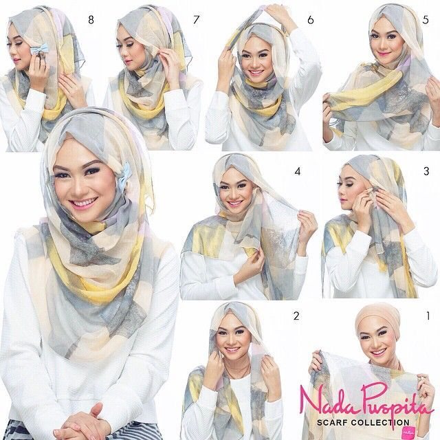 This is a most worn hijab look, we notice the differences in the volume of folds or Hijab patterns Or maybe the kind of fabric used but this remains the most used and appreciated Hijab look by bloggers. Follow the steps… Hijab Tutorials