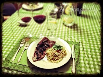 Sip and Simplify: Date Night Veal and Aglio Pasta