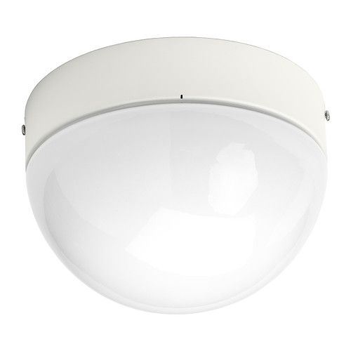 ÖSTANÅ Ceiling/wall lamp IKEA Gives a diffused light which is good for spreading light into larger areas of a bathroom.