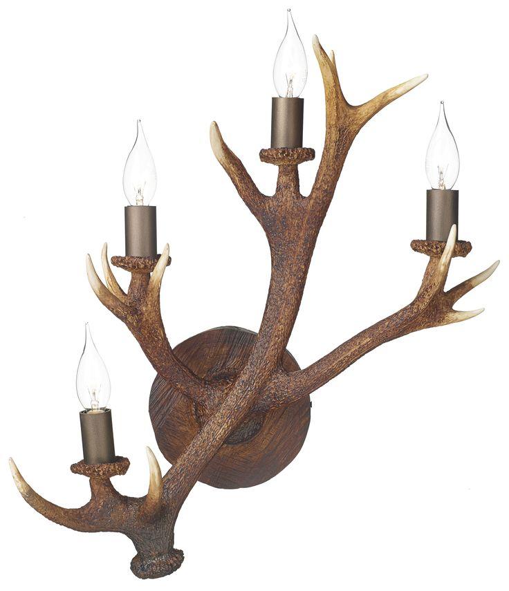 David Hunt ANT3049 Antler 4 light Wall candelabra.