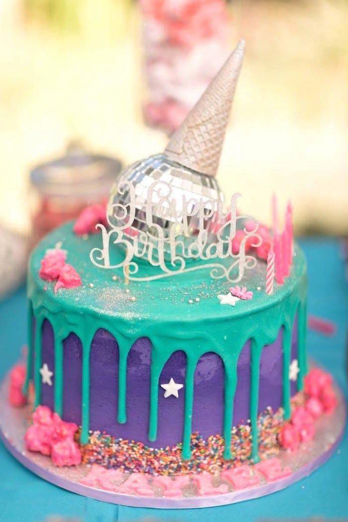 Terrific Rock Star Themed Cake From A Rock Star Birthday Party On Karas Funny Birthday Cards Online Kookostrdamsfinfo