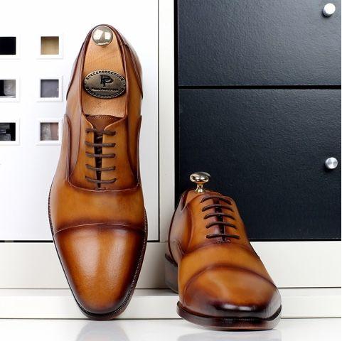 Handmade Men's Shoes by PAUL PARKMAN: Handmade mens brown oxfords