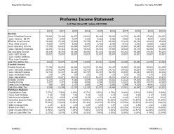 Proforma Income Statement created by ProAPOD Real Estate Investment Software