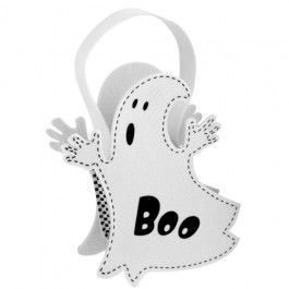 Have a scarily good time trick or treating this halloween with our felt bag! You will look the part with this fabulous ghost design which includes a handle for added ease. 100% polyester, wipe clean only.