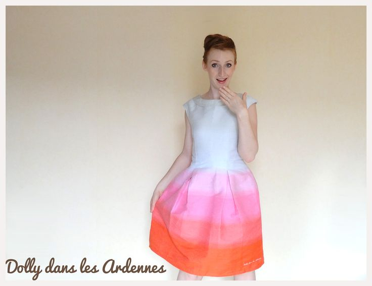 Vintage Tie and Dye dress - Robe retro tie and dye | Dolly dans les Ardennes