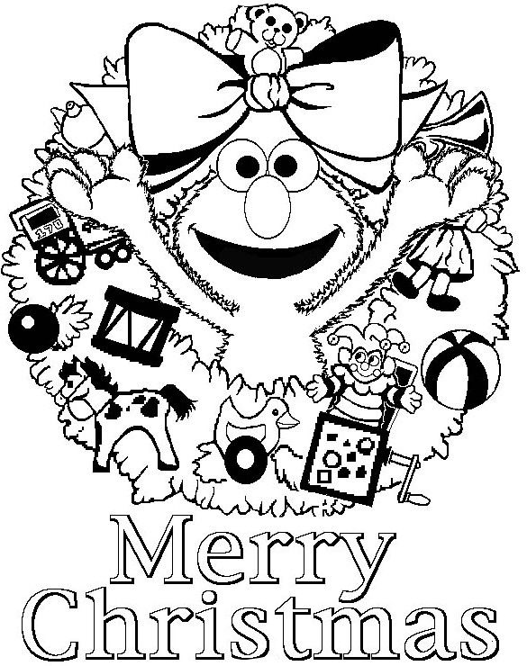 Christmas elma says merry christmas free coloring page