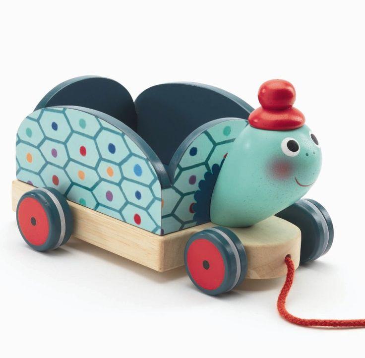 Djeco Trækdyr i træ - Clementine trækvogn - Tinga Tango #djeco#legetøj#børneværelse