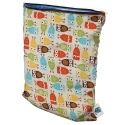 Planet Wise Wet Bag!  These are great for wet and dirty cloth diapers.  Small for the diaper bag.  Medium and large for the nursery.  I love the Owl print!