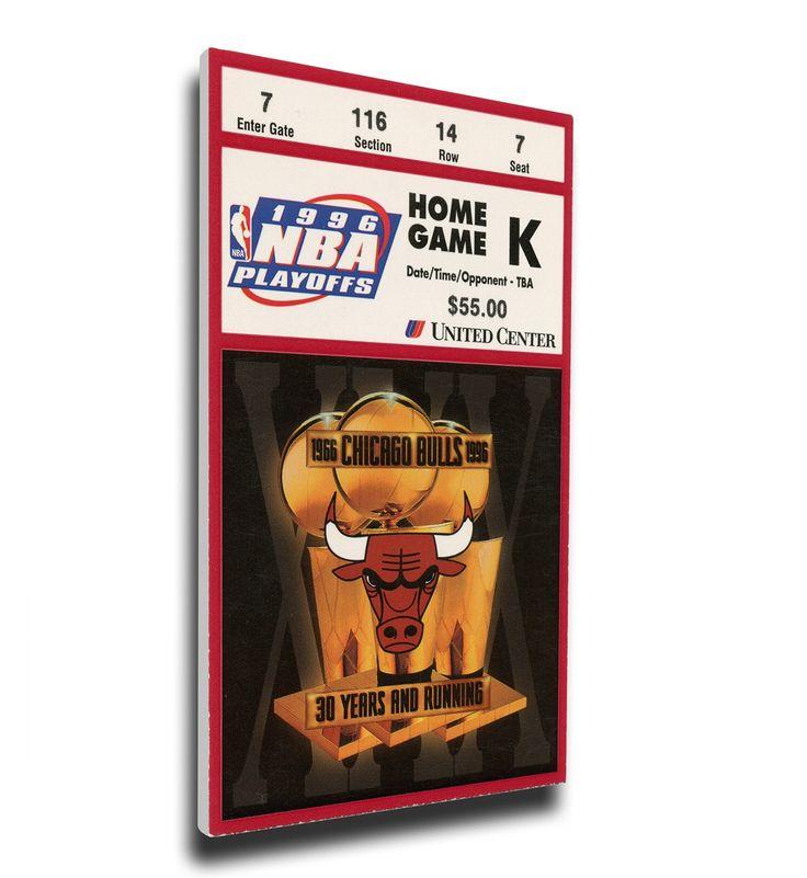 Chicago Bulls Wall Art - 1996 NBA Finals Canvas Mega Ticket, Game 5