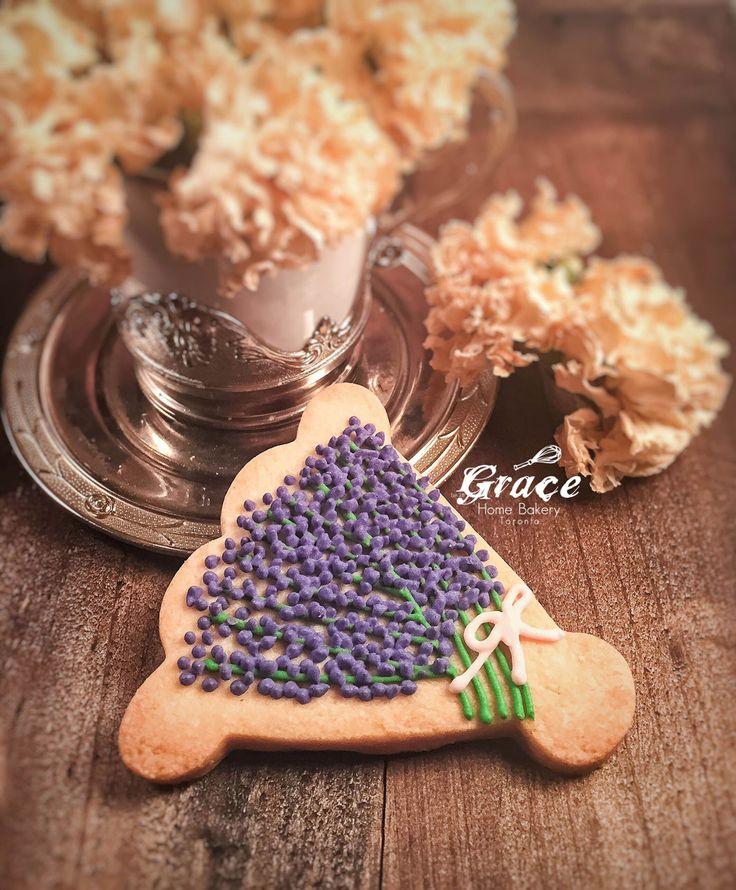 Valentine's Sugar Cookies |Bouquet | Grace Home Bakery Toronto. Flowers Bouquet. Lavander
