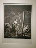 Hekserij onder de galg. Jacques Aliamet naar David Teniers Ii, 1746-1788. Midden in de nacht graaft een heks samen met haar gezelschap naar alruin. Deze magische wortel zou geboren worden uit het sperma of de urine van een gehangene. Op het originele werk van Teniers hangt er een veroordeelde aan een galg. Aliamet maakt van de galg een paal en laat het lijk weg. Waarschijnlijk vindt hij de gehangene te gruwelijk voor zijn publiek.