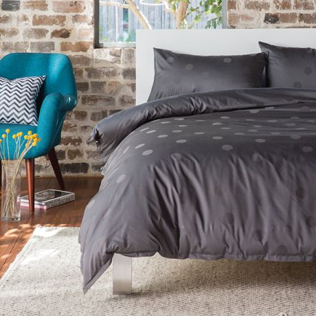Bette Charcoal Quilt Cover