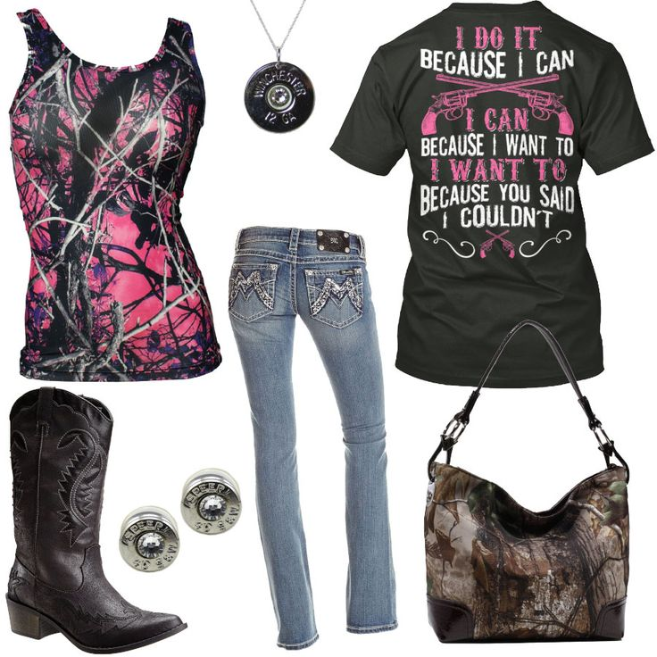 I Do It Because I Can Muddy Girl Tank Top Outfit - Real Country Ladies