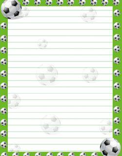 free soccer stationery from PrintableTreats.com