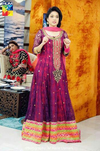 Awesome dress...beautifully worn by pakistani actress Sanam Jung!