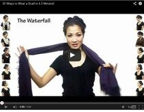 40 ways to tie a scarf in three video demonstrations