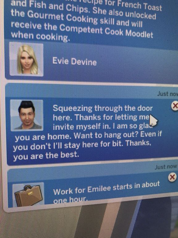 I locked the door, and he still got in somehow.. he's the most annoying neighbour ever! : thesims
