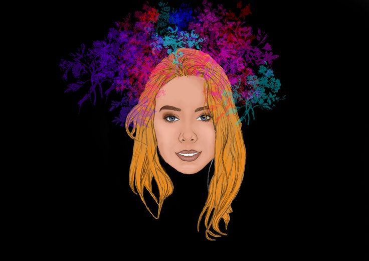 #mywork #me #photoshop #woman #chill #art #draw #colour #black #brush #hair #flower #flowers #smile #eyes #mouth #teeth #red #blue #pink #yellow #colours