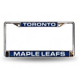 Toronto Maple Leafs Blue Laser-Etched Chrome License Plate Frame
