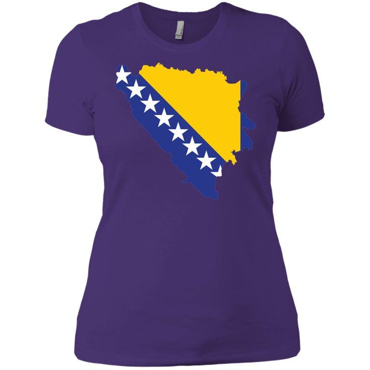 Bosnia flag -01 Next Level Ladies' Boyfriend Tee