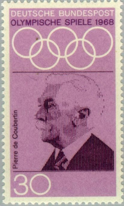 Baron Pierre de Coubertin (1862-1937), founder of the olympi