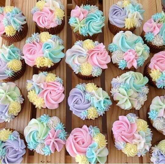 Lovely Pastel Cupcakes By We Make It Easyu2026 · · · Baby Shower Cupcakes 💕 Via
