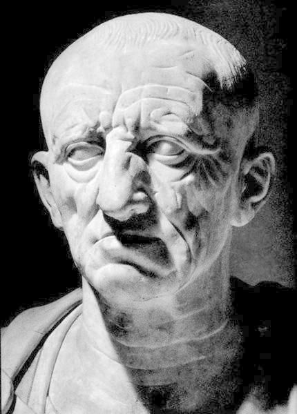 "Topic: Carthaginian War; Cato the elder was a Roman Senator and known for saying the words ""Carthago delenda est!"" It means that Carthage must be destroyed. It marks the end of Carthage."